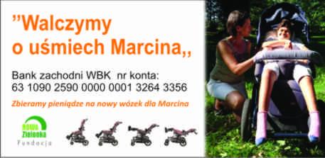 Zebraliśmy  pieniądze na nowy wózek dla Marcina